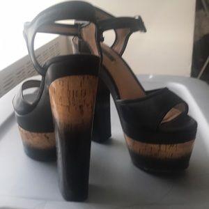 Rachel Zoe Gradient Cork Heels